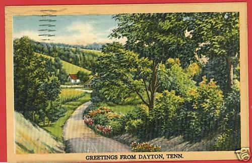 DAYTON TENNESSEE GREETINGS FROM 1948  POSTCARD