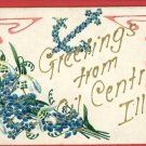 OIL CENTER ILLINOIS IL GREETINGS  1907 STOY POSTCARD