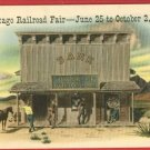 CHICAGO RAILROAD FAIR 1949 BANK OF GOLD GULCH  POSTCARD