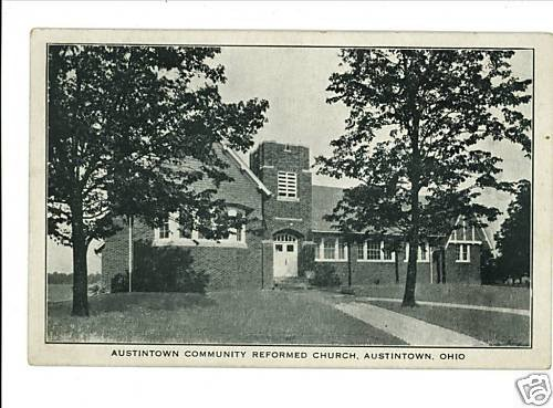 AUSTINTOWN OH OHIO COMMUNITY REFORMED CHURCH POSTCARD