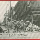 DAYTON OHIO FLOOD FIFTH & LUDLOW BUEHLER HATS  POSTCARD