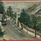 COLORADO SPRINGS CO HIGH DRIVE HORSES CHEYENNE POSTCARD