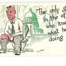 ELMER ANDERSON GUY IN OFFICE TOILET CAPITAL POSTCARD