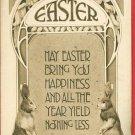 EASTER RABBITS 1911 GIBSON ART COMPANY  POSTCARD