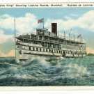RAPIDS KING STEAMSHIP LACHINE RAPIDS MONTREAL  POSTCARD