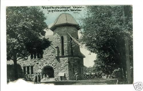 YPSILANTI MI MICHIGAN STARKWEATHER HALL 1910 POSTCARD