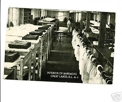 RPPC Great Lakes IL Illinois Interior of Barracks NAVY