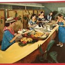 HONOLULU HAWAII KONA INN LUNCHEON POSTCARD 1963 BUFFET