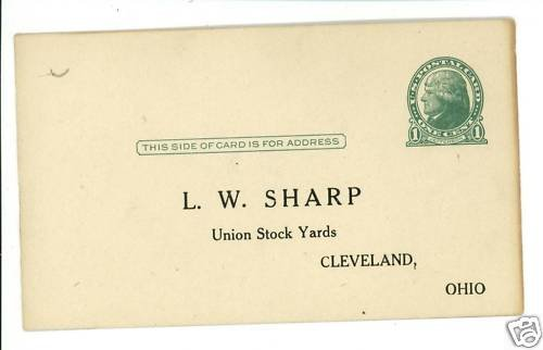 CLEVELAND OHIO OH UNION STOCK YARDS L.W. SHARP POSTCARD