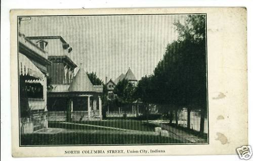 UNION CITY IN INDIANA COLUMBIA ST 1909  POSTCARD