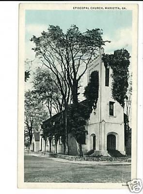 MARIETTA GEORGIA EPISCOPAL CHURCH 1934 POSTCARD