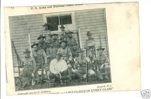 BULLS EYE  US ARMY NATIONAL GUARD NEWARK NJ  POSTCARD