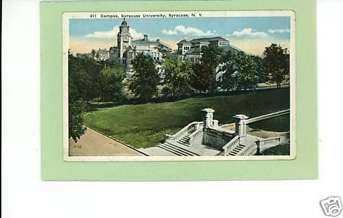 SYRACUSE NEW YORK UNIVERSITY CAMPUS 1922 POSTCARD