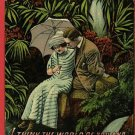 COUPLE UMBRELLA PARASOL TROPICAL LOVE  POSTCARD