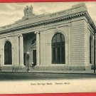 DETROIT MICHIGAN STATE SAVINGS BANK UND BACK POSTCARD