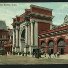 BOSTON MA MASSACHUSETTS NORTH STATION DEPOT RR POSTCARD