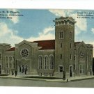 LIMA OH OHIO GRACE ME CHURCH DUNHAM MATTHEWS POSTCARD