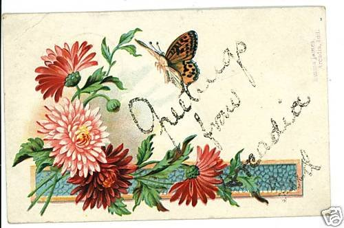 ARCADIA INDIANA IN GREETINGS FROM BUTTERFLY  POSTCARD