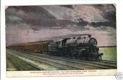 TWENTIETH CENTURY NEW YORK CENTRAL  RAILROAD POSTCARD