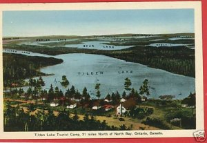 TILDEN LAKE TOURIST CAMP N BAY ONTARIO CANADA  POSTCARD