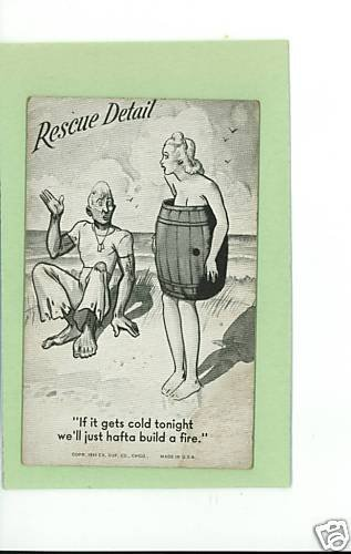US ARMY NAVY COMIC BLOTTER RESCUE DETAIL 1943 EX SUP CO
