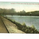 BELLAIRE OHIO RAILROAD OHIO RIVER BRIDGE BELMONT POSTCD