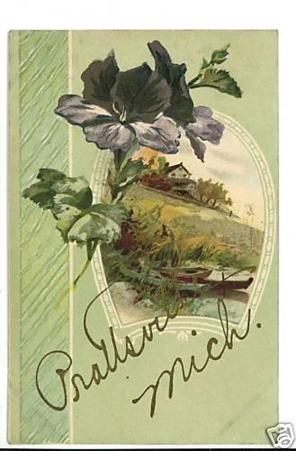 PRATTSVILLE MICHIGAN GOLD GLITTER 1909  POSTCARD