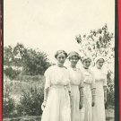 RPPC 4 WOMEN IN WHITE DRESSES BRACELETS RP POSTCARD