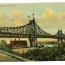 QUEENSBORO BRIDGE NEW YORK CITY NY NYC  POSTCARD