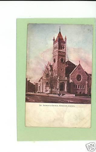 KINGSTON CANADA ST ANDREW'S CHURCH 1906 POSTCARD