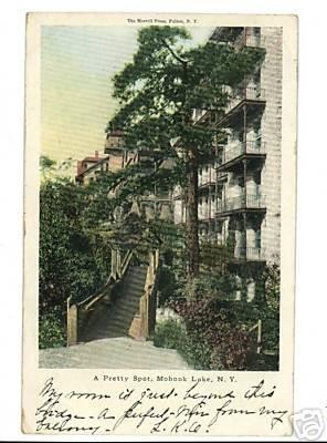 MOHONK LAKE New York  1907 UNDIVIDED BACK POSTCARD