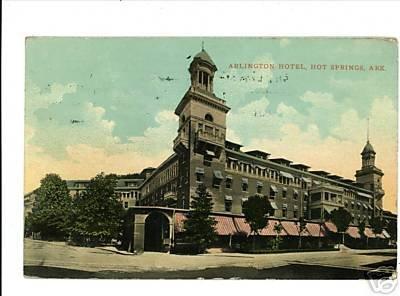 HOT SPRINGS ARKANSAS AR ARLINGTON HOTEL 1911 POSTCARD