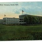 DETROIT MICHIGAN MI CHALMERS MOTOR COMPANY CAR POSTCARD