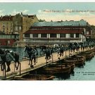 FRENCH CALVALRY CROSSING MARNE PONTOON BRIDGE WWI PSTCD