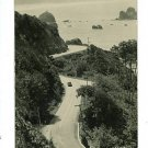 RPPC REDWOOD HIGHWAY CA OLD CAR REAL PHOTO  POSTCARD