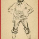 MARSHALL DAVIS SKETCH ARTIST SOLDIER UNIFORM  POSTCARD
