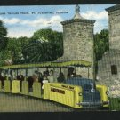 ST AUGUSTINE FL SIGHT SEEING TRAILER TRAIN   POSTCARD