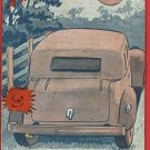 MILITARY AWOL LOVERS PARKING MOON LIGHT  1941  POSTCARD