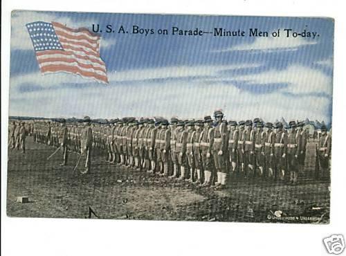 USA ARMY BOYS PARADE MINUTE MEN OF TODAY 46 STAR FLAG