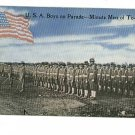 USA ARMY BOYS PARADE MINUTE MEN OF TODAY 46 STAR FLAG