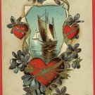 VALENTINE'S DAY SAILBOAT HEARTS POSTCARD