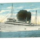 STEAMER STEAMSHIP NORTH WEST 1910  POSTCARD