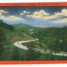 NORRIS DAM TN TENNESSEE TVA FREEWAY OLD CAR POSTCARD