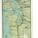MAP OF PACIFIC NORTHWEST SEATTLE WASHINGTON POSTCARD