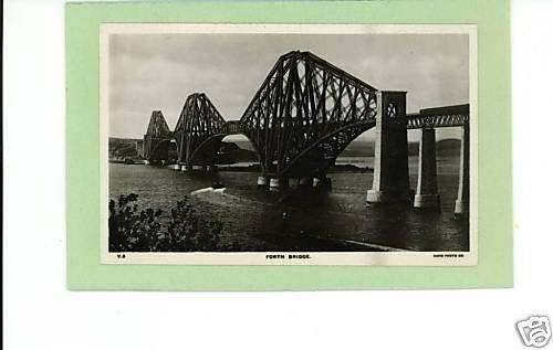 FORTH BRIDGE RPPC UK SCOTLAND RAILROAD BRIDGE