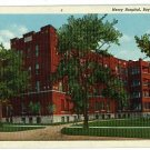 BAY CITY MI MICHIGAN  MERCY HOSPITAL 1950 POSTCARD