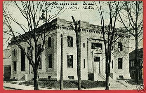 LANCASTER OHIO GOVERNMENT BUILDING POSTCARD