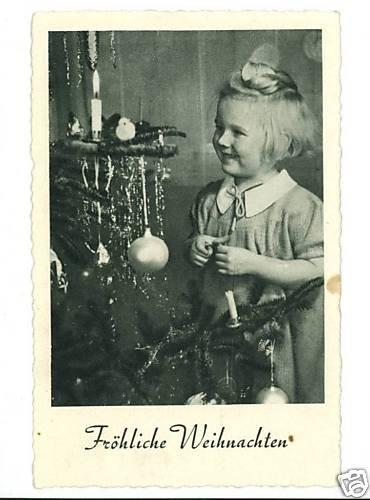 FROHLICHE WEIHNACHTEN FEATHER CHRISTMAS TREE GIRL DECO