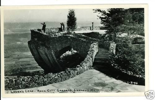 RPPC LOVER'S LEAP ROCK CITY LOOKOUT MTN TN TENNESSEE