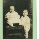 TWO LITTLE  BOYS REAL PHOTO POSTCARD